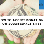 squarespace donations button