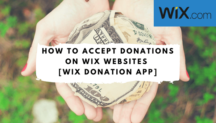 wix donation page - wix donation button