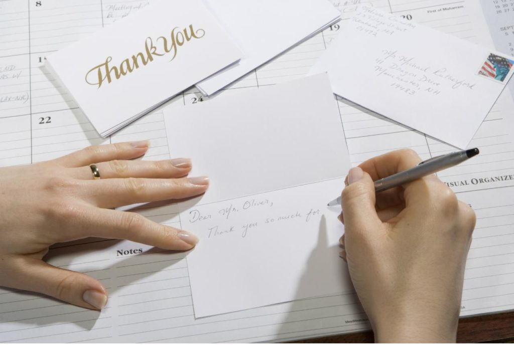 Donor Recognition Ideas - Thank you letter