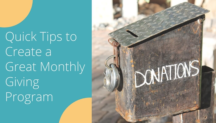 Great Monthly Giving Program (Recurring Donations)