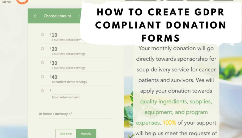 How To Create GDPR Compliant Donation Forms Nonprofit Blog