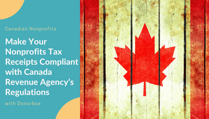 canadian nonprofits make tax receipts compliant with canada revenue
