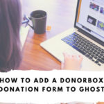 donate button for ghost