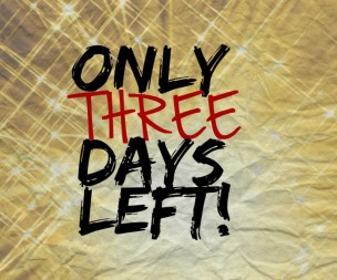 Only three days left! - Do Not Depart