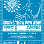 13th Annual Spring Thaw Powwow - Staff Poster