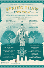 15th Annual Brown University Spring Thaw Powwow - Official Poster