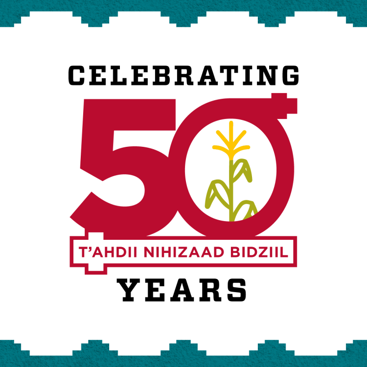 UNM Navajo Language Program - 50th Anniversary Mark