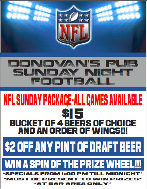 Brunch and Sunday Football Specials