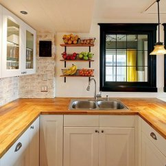 Wood Countertops Kitchen Sink Black Granite 30 Rustic That Will Make Your Home Cozier And Comfier Maple