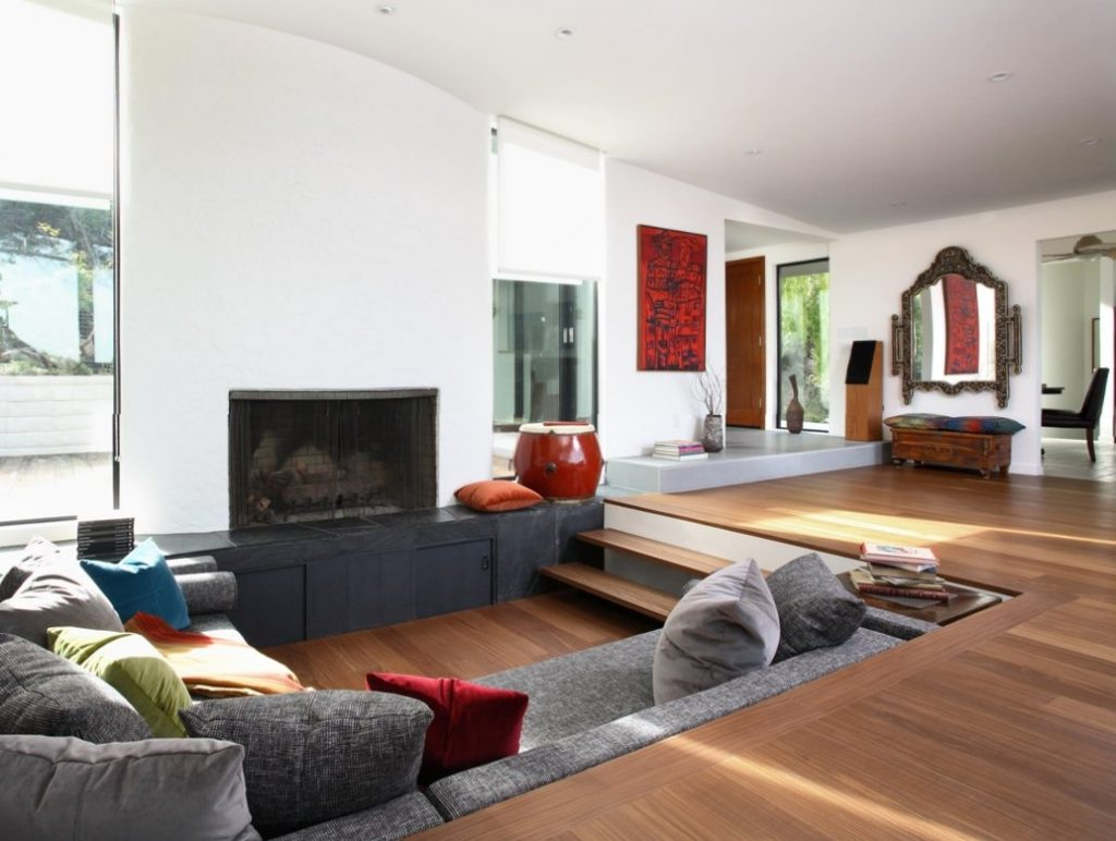 laminate flooring sunken living room colors with beige furniture 19 best design ideas you d wish to own conventional
