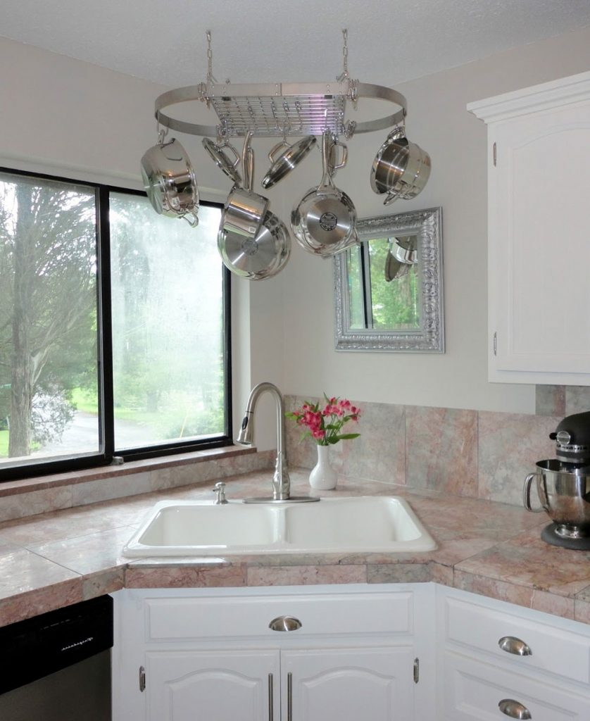 title   Corner Kitchen Sink
