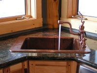 Corner Kitchen Sink Design Ideas / Remodel for Your
