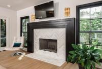 Large Tile Fireplace Surround
