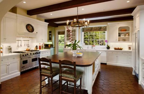 spanish style kitchen tiles floor ideas 31 Modern and Traditional Spanish Style Kitchen Designs