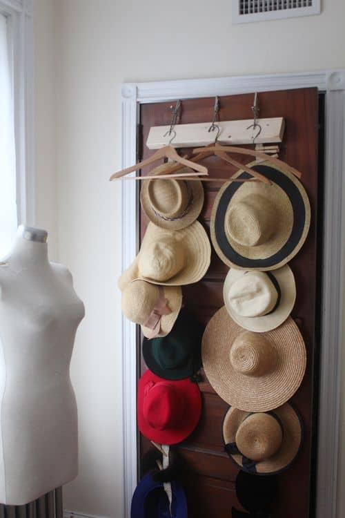 diy hat rack ideas for your hat organizer