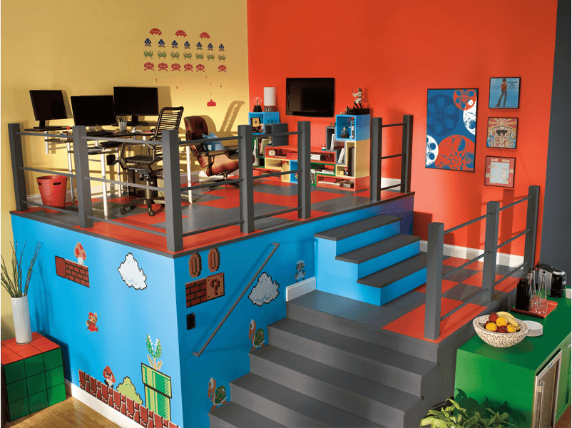 Colored walls can make all the difference between plain and lively home dècor. 50+ Best Setup of Video Game Room Ideas A Gamer's Guide
