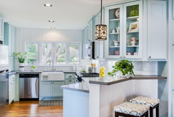 blue and white kitchen cabinet ideas 24 Blue Kitchen Cabinet Ideas to Breathe Life into Your