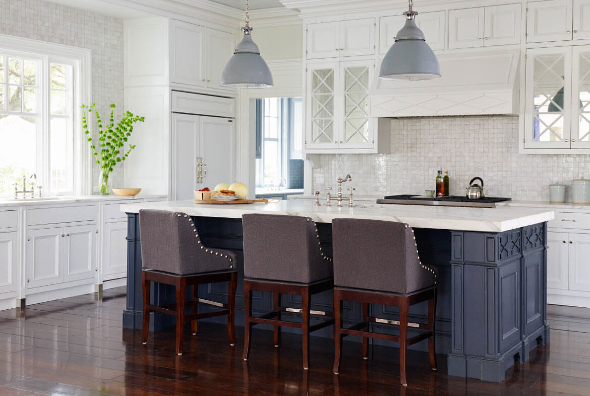 navy kitchen cabinets colored islands 24 blue cabinet ideas to breathe life into your