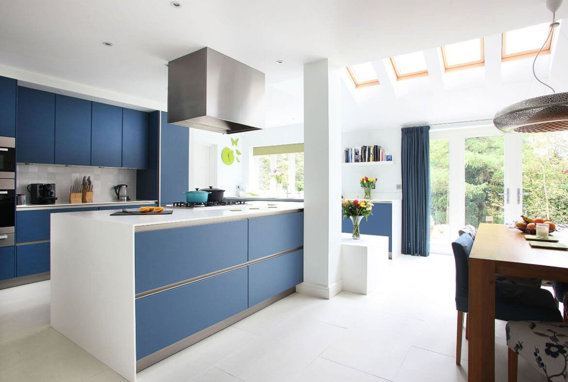 kitchen cabinets set countertop 24 blue cabinet ideas to breathe life into your minimalist in color light