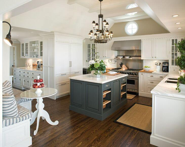grey kitchen island ikea installation cost 21 creative cabinet ideas for your stained cabinets