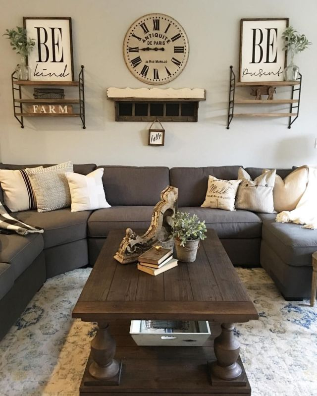 23 Farmhouse Living Room Designs & Ideas to Try in 2021