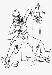 Don Quijote leyendo