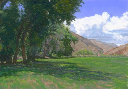 Shade by Western pastel landscape artist Don Rantz