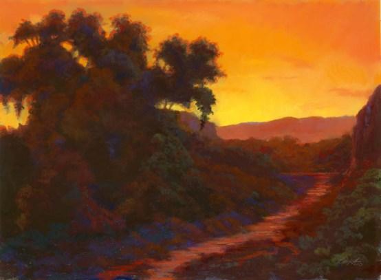 Boyce-Thompson Color by Western pastel landscape artist Don Rantz