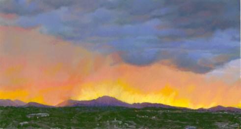 Granite Mountain Sunset 2 by Western pastel landscape artist Don Rantz