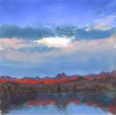 Lake Havasu Sunrise 2 by Western pastel landscape artist Don Rantz