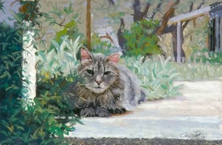 Lurker by Western pastel landscape artist Don Rantz