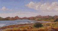 Willow Lake Panorama by Western pastel landscape artist Don Rantz