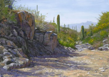Baboquiviri from King Canyon 2 by Western pastel landscape artist Don Rantz