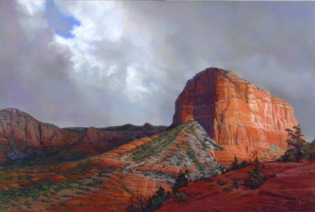 Breaking Through by Western pastel landscape artist Don Rantz