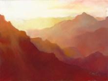 Canyon Color by Western pastel landscape artist Don Rantz