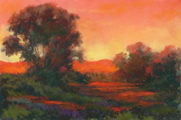 Color Orange by Western pastel landscape artist Don Rantz