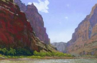 Dark by Western pastel landscape artist Don Rantz