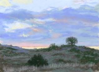 Dawn 2 by Western pastel landscape artist Don Rantz