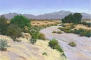 Dry Wash by Western pastel landscape artist Don Rantz