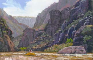 Echo by Western pastel landscape artist Don Rantz