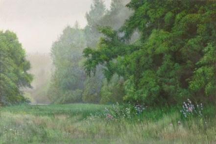 Edge of the Mist by Western pastel landscape artist Don Rantz