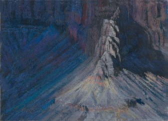 Grand Canyon 13-Fading Light by Western pastel landscape artist Don Rantz
