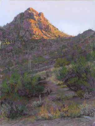 Gates Pass at Sunrise by Western pastel landscape artist Don Rantz