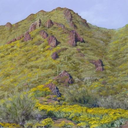 Gojohn Trail 3 by Western pastel landscape artist Don Rantz