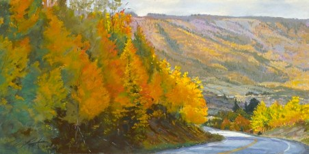 Grand Mesa Autumn by Western pastel landscape artist Don Rantz
