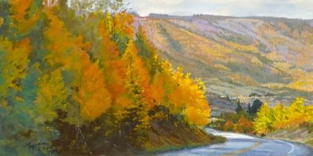 Grand Mesa Autumn by Western pastel landscape artist Don Rantz