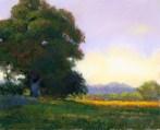 Green 2 by Western pastel landscape artist Don Rantz