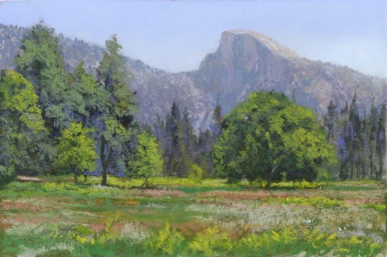 Half Dome by Western pastel landscape artist Don Rantz
