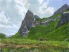 Hillside Spire by Western pastel landscape artist Don Rantz