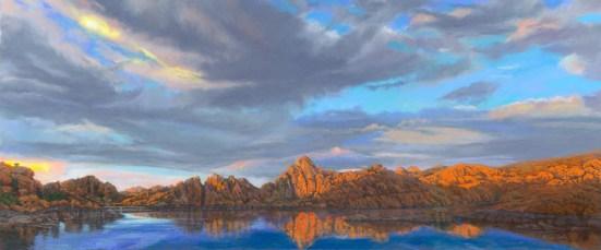 Jody's Sky by Western pastel landscape artist Don Rantz